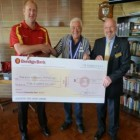AGM 2014 - Presentation of sponsorship cheque from Pinewood Community Bank