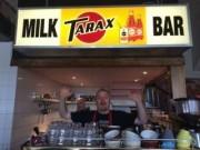 Old Tarax sign at the Cafe